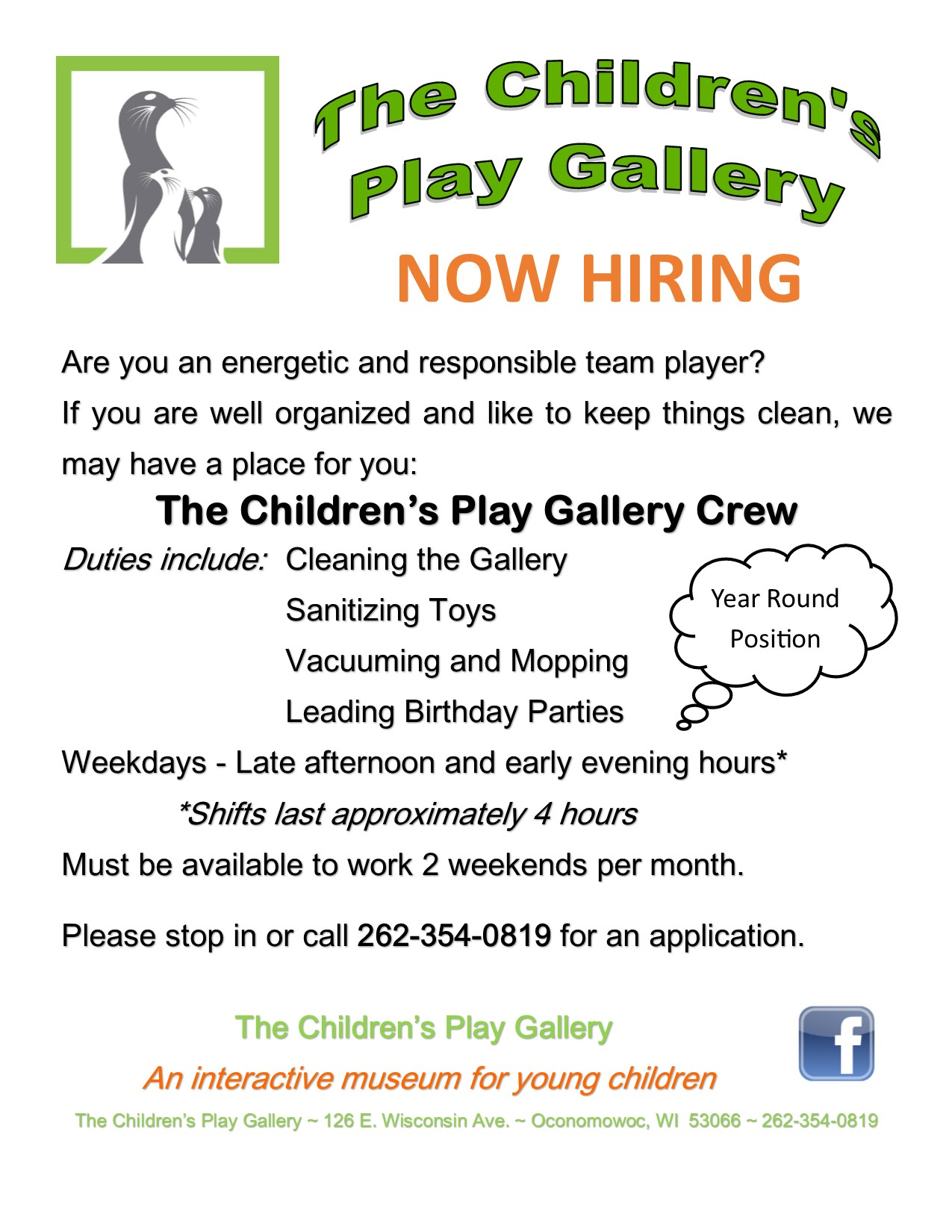 Now Hiring Would You Like To Join The Children S Play