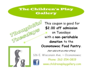 Thoughtful Tuesday Food Pantry Coupon